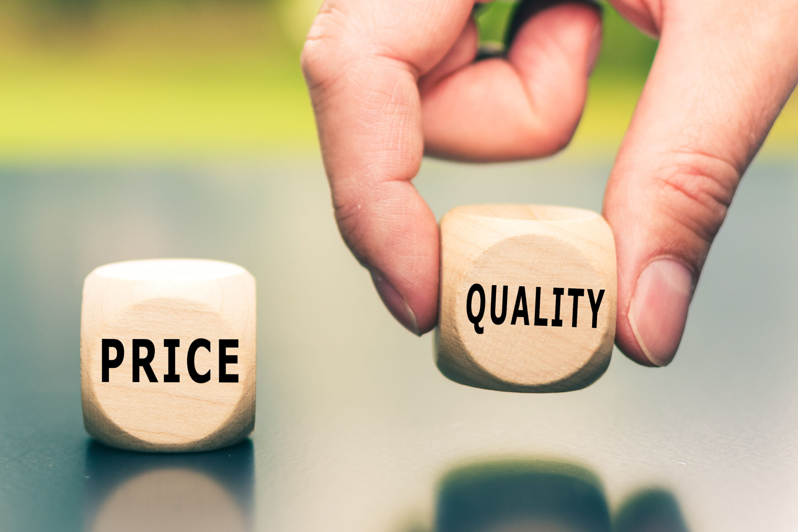 Price versus Quality.